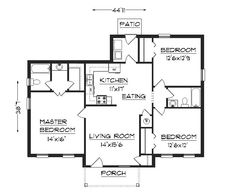 House plans home plans plans residential plans Small house floor plans free