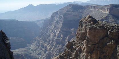 shorfat al nakhar  jabal shams oman grand canyon